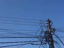elektrisk pol royaltyfri bild