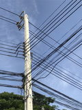 Elektrisk pol på gatan Royaltyfri Bild