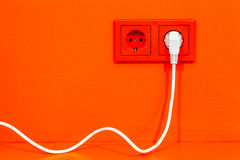 elektrisk propp Royaltyfria Foton