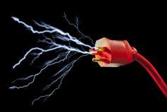 elektrisk propp Arkivbild