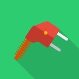 Elektrisk propp för modern plan symbol för designbegrepp Arkivfoton