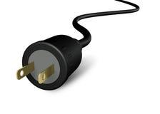 Elektrisk propp på den vita illustrationen för bakgrund 3d Arkivbilder