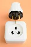 elektrisk proppstickkontakt för kombination Arkivfoto