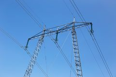 elektrisk pylon royaltyfri foto