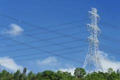 elektrisk pylon royaltyfri bild