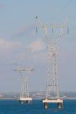 elektrisk pylon Arkivbilder