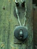 Elektrisk retro strömbrytare fotografering för bildbyråer