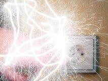 elektrisk shok Arkivbilder