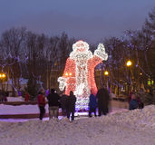 Elektrisk skulptur av Santa Claus Royaltyfri Fotografi