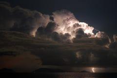 elektrisk sky Arkivfoto