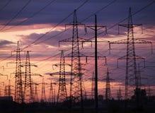 elektrisk solnedgång Royaltyfri Bild