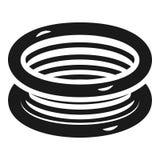Elektrisk spolesymbol, enkel stil royaltyfri illustrationer