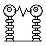 Elektrisk spolesymbol royaltyfri illustrationer