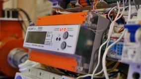 Elektrisk ställning elektrisk installation closeup Arkivfoto