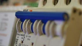 Elektrisk ställning elektrisk installation closeup royaltyfri fotografi