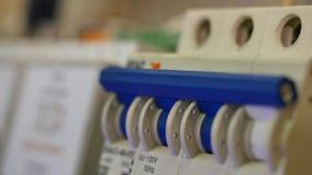 Elektrisk ställning elektrisk installation closeup Arkivfoton