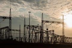 elektrisk station Fotografering för Bildbyråer