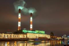 Elektrisk station för Moskva royaltyfria bilder
