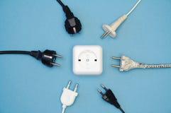 elektrisk stickkontakt Royaltyfria Bilder