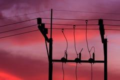 Elektrisk stolpe arkivfoton