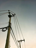 elektrisk stolpe Royaltyfri Foto