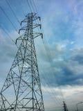 elektrisk stolpe Fotografering för Bildbyråer