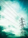 elektrisk stolpe Royaltyfria Bilder