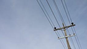 elektrisk stolpe Arkivbild