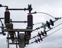 elektrisk strömbrytare Arkivbild