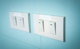 Elektrisk strömbrytare Fotografering för Bildbyråer