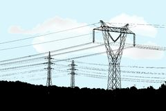 elektrisk strömförsörjning Arkivfoton