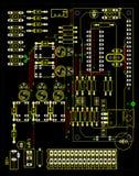 elektrisk strömkrets Arkivfoton