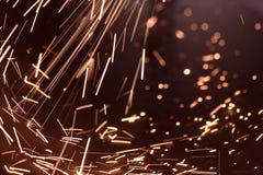 elektrisk strömspark Fotografering för Bildbyråer