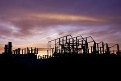 elektrisk strömstation Royaltyfri Foto
