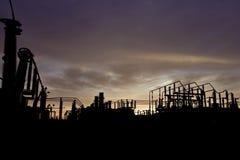 elektrisk strömstation Fotografering för Bildbyråer