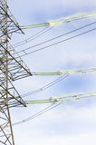 elektrisk strömöverföring Royaltyfria Bilder