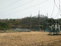 Elektrisk substatio Arkivbild