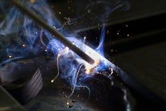 Elektrisk svetsning Royaltyfri Fotografi