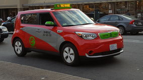 Elektrisk taxi i Washington DC Royaltyfria Bilder