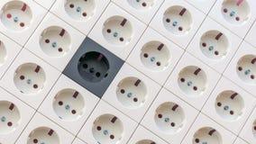 Elektrisk textur för hålighetuttag arkivfoton