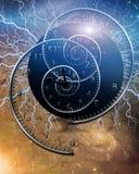 elektrisk tid royaltyfri illustrationer