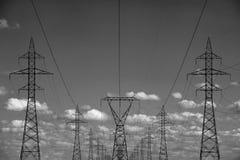 elektrisk tornöverföring arkivbild