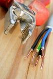 elektrisk tråd arkivfoto