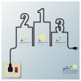 Elektrisk trådlinje affär Infographic för podium royaltyfri illustrationer