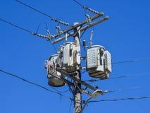elektrisk transformator Royaltyfria Bilder