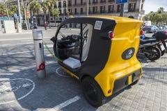 Elektrisk trehjuling arkivbild