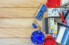 Elektrisk utrustning, för konstruktionen av maktraster arkivbilder