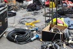 Elektrisk utrustning på stadsgatan royaltyfri foto