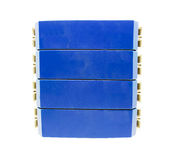 Elektrisk utrustning som skyddar   resultera från en blixturladdning som isoleras på vit Royaltyfri Fotografi
