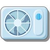 elektrisk ventilator Luft som betingar för hemmet, klimatutrustning som isoleras på vit bakgrund Vektortecknad filmn?rbild stock illustrationer